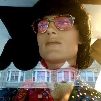 Male mannequin Haight Ashbury store window Summer of Love Revisited
