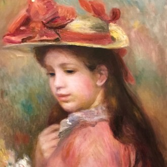 Young Girl with Hat Pierre Auguste Renior Legion Honor hats San Francisco