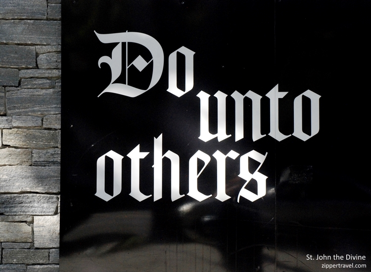 Do unto others Harlem NYC St John Divine