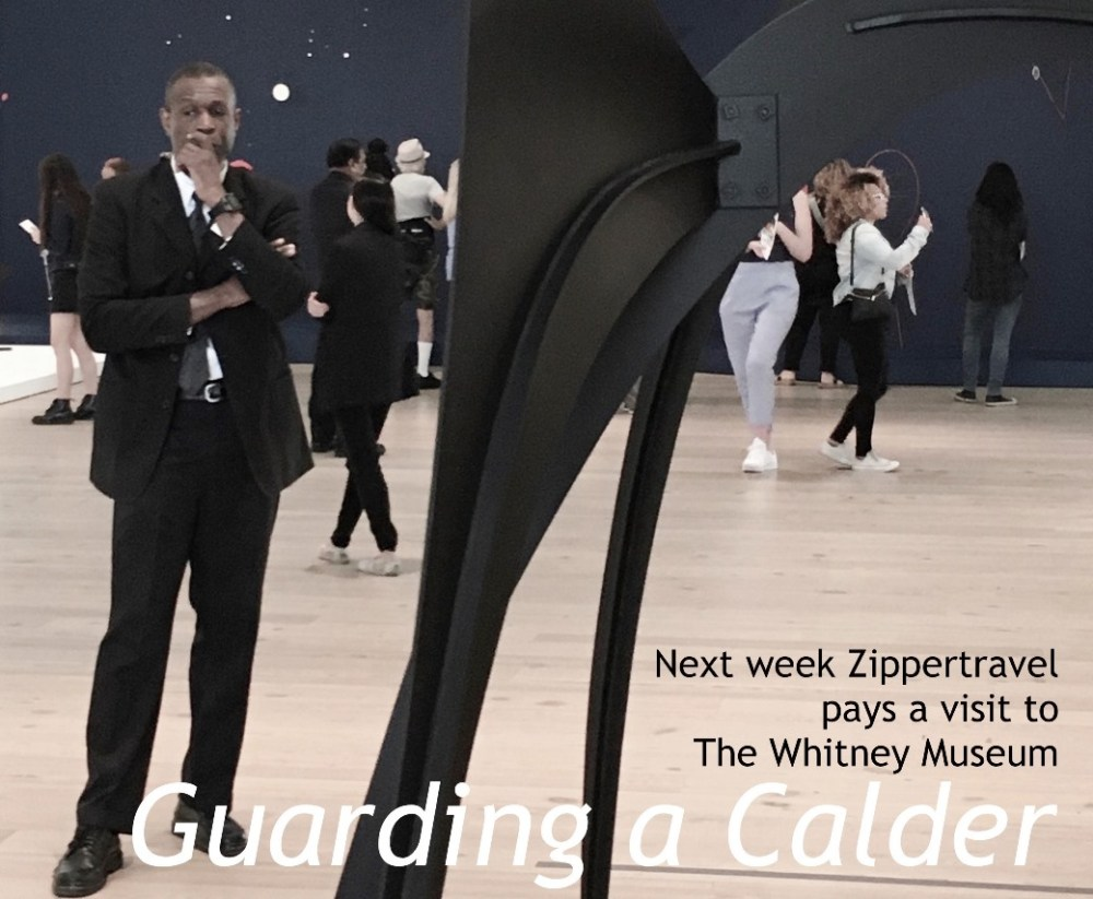 guard Calder stabile Whitney Museum