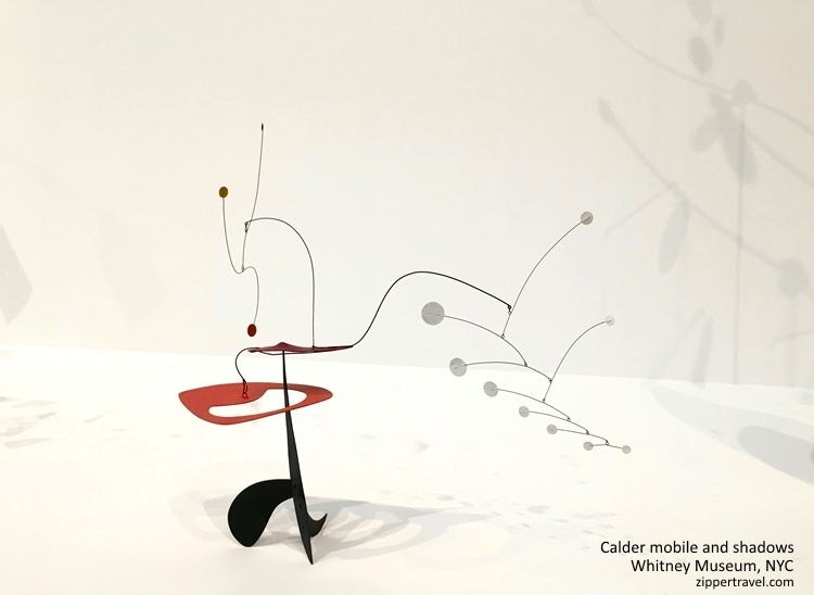 Calder mobile red black Whitney