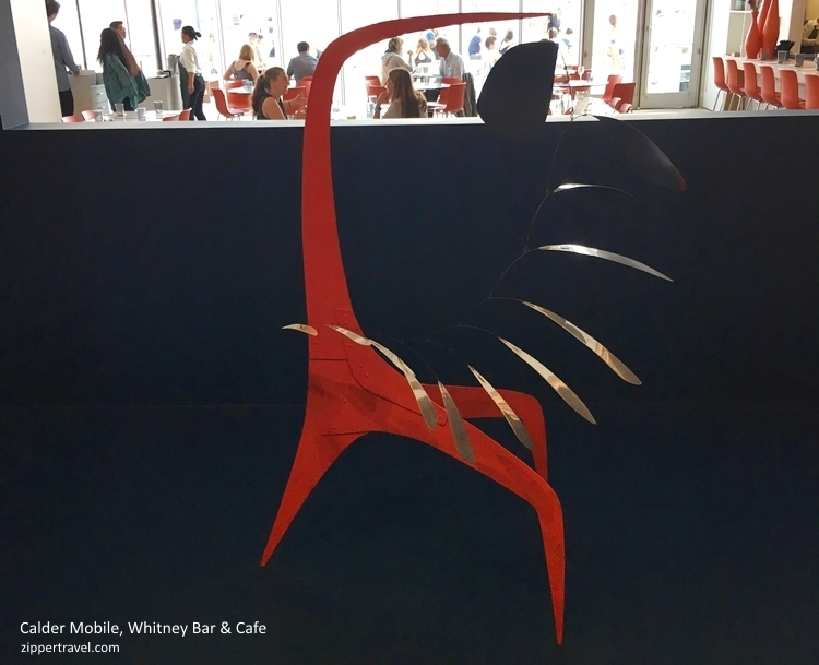 Calder Mobile Whitney bar background