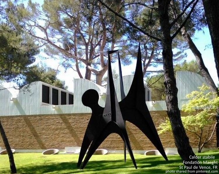 Calder at the Foundation Maeght in St Paul de Vence France