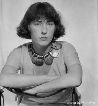 Man Ray photoLouisa Calder wearing Calder necklace Paris 1931
