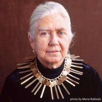 Mary Calder Rower in Calder necklace Copyright Maria Robledo