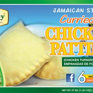 Jamaican Style Curried Chicken Patties (50 pieces)