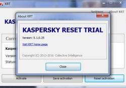 Kaspersky Reset Trial V 5.1.4