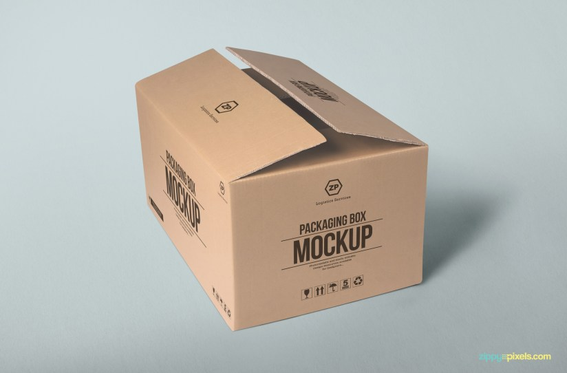 Download Free Packaging Box Mockup | ZippyPixels