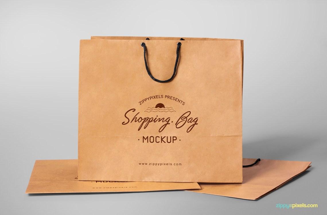 Download Free Shopping Bag Mockup | ZippyPixels