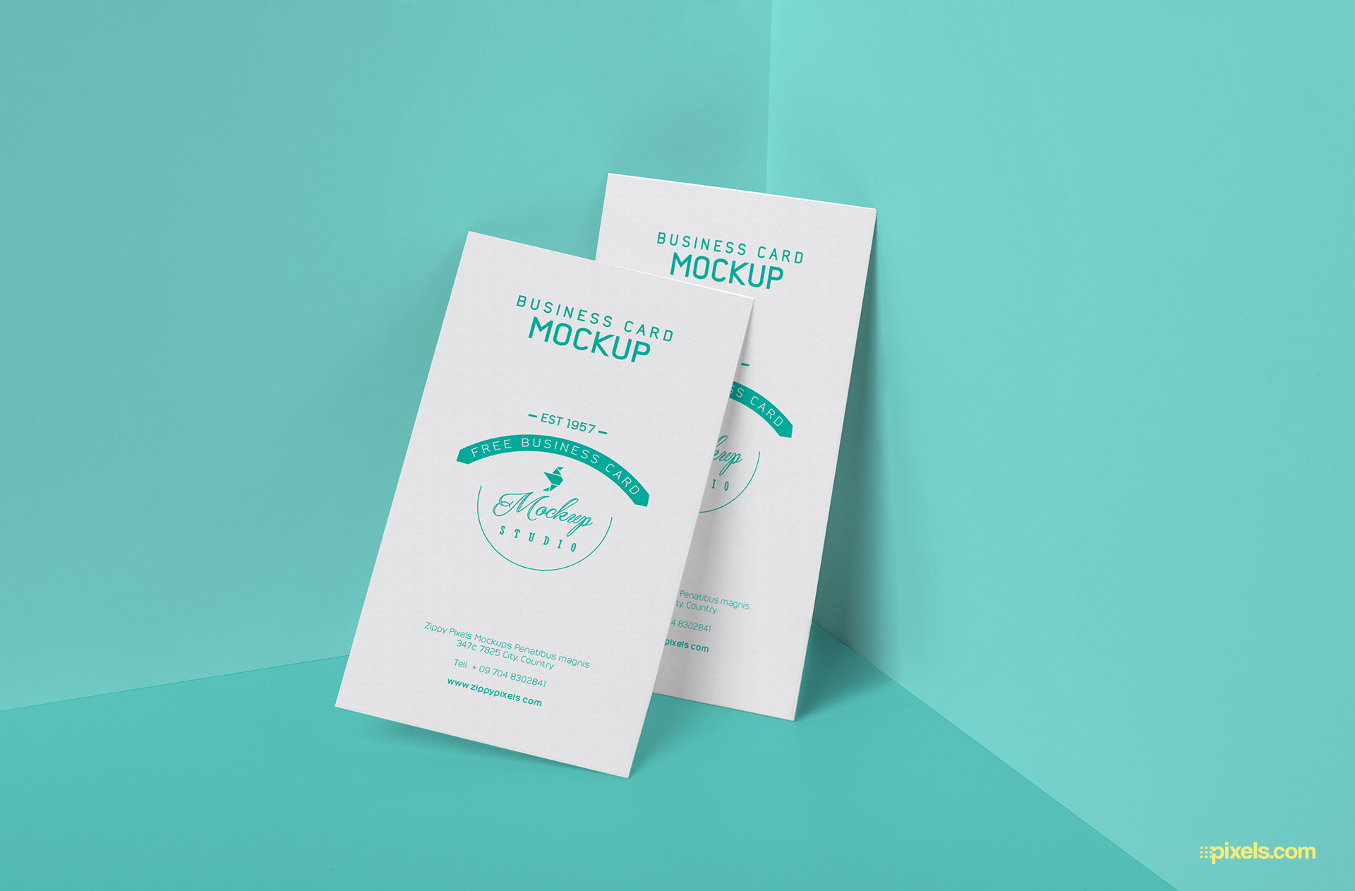 Unique & modern corporate business card (template). Free Visiting Card Psd Mockup Zippypixels