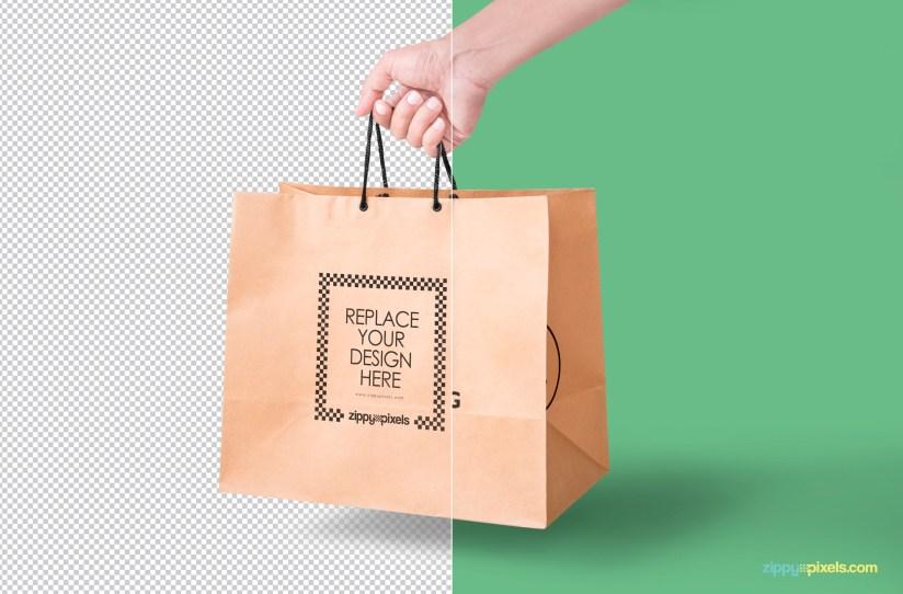 Download Paper Bag Mockup | Free PSD Download | ZippyPixels