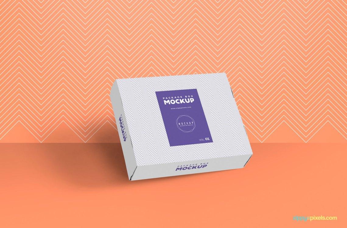 Download Free Gorgeous Box Packaging Mockup | ZippyPixels