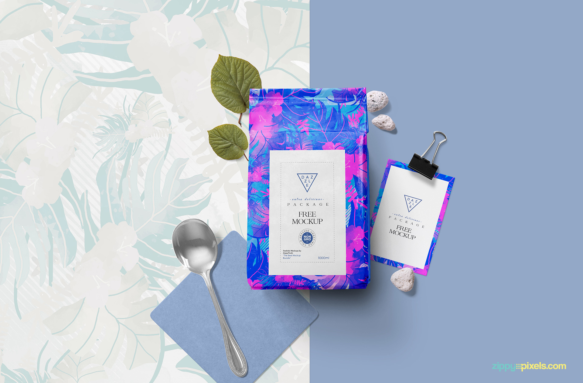 Learn more about tea bags for eyes in this article. Free Packaging Pouch Mockup Zippypixels