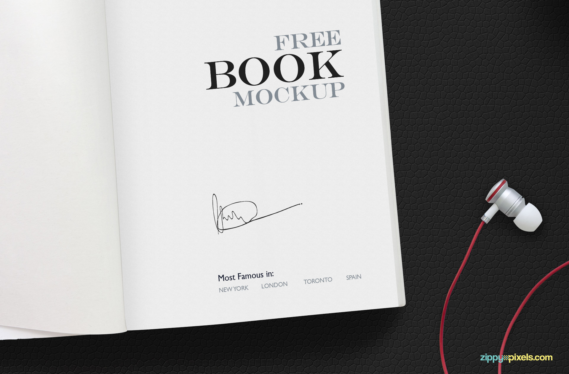 Blank opened book, magazine and notebook template with soft shadows. Free Open Book Mockup Scene Zippypixels