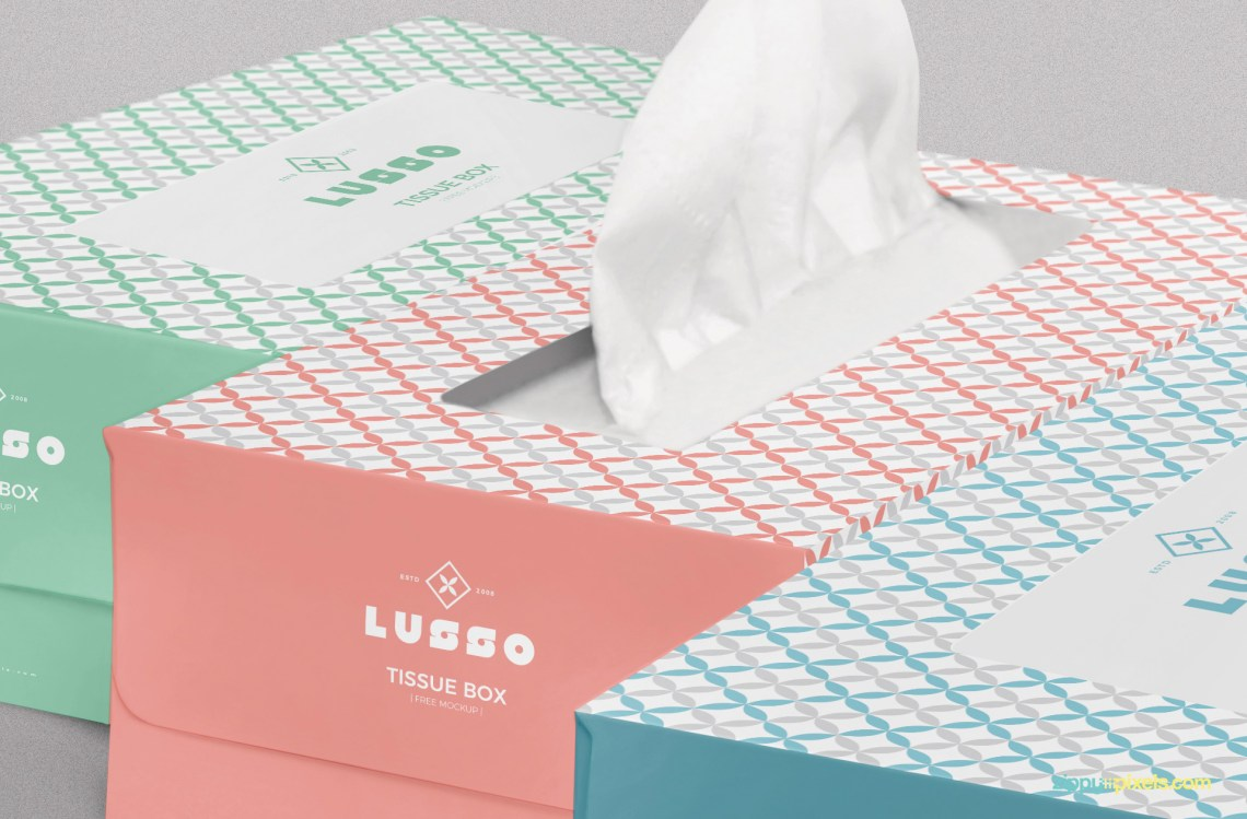 Download Free Luxury Tissue Box Mockup | ZippyPixels