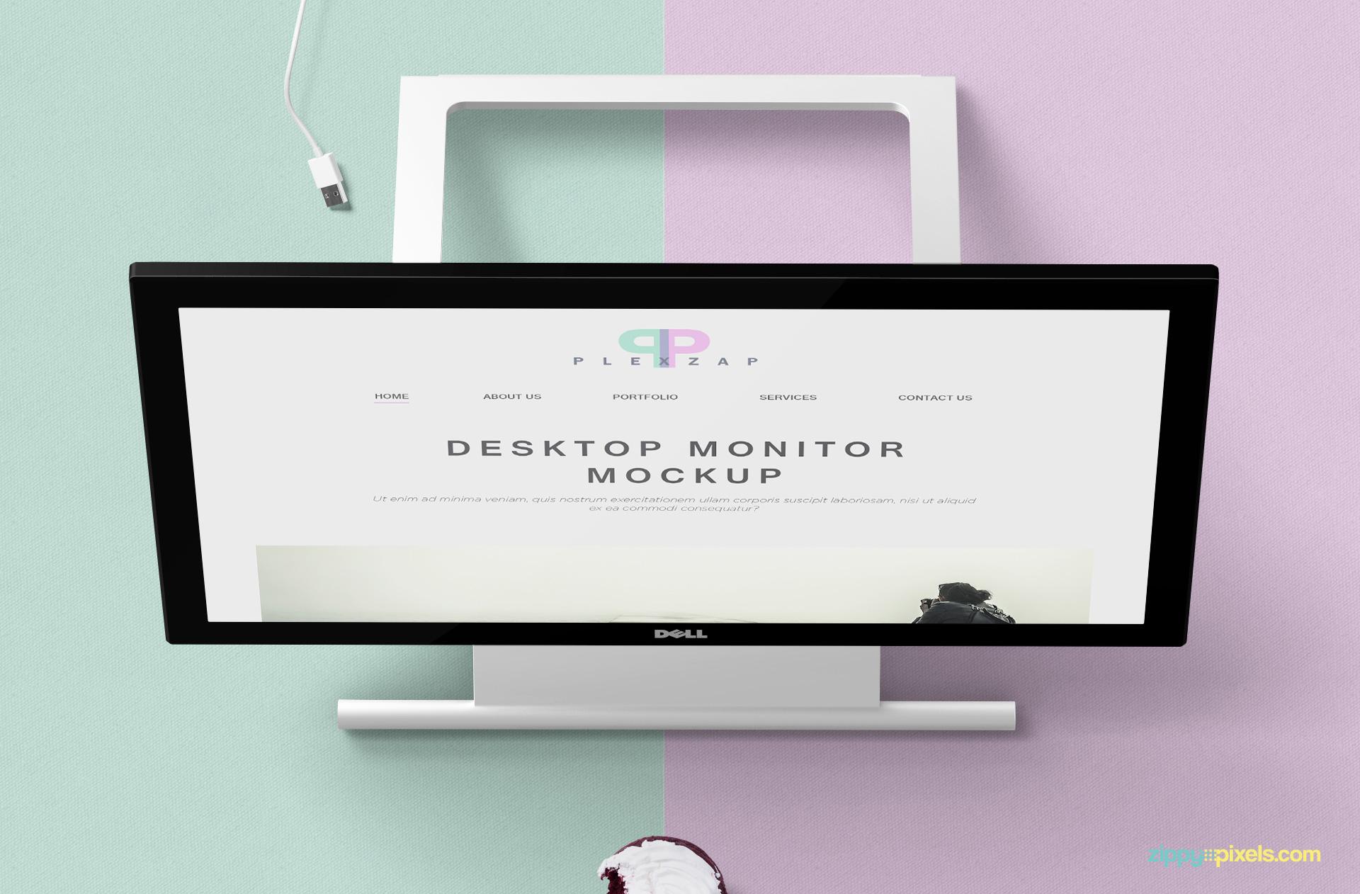 Free Desktop Monitor Mockup Zippypixels