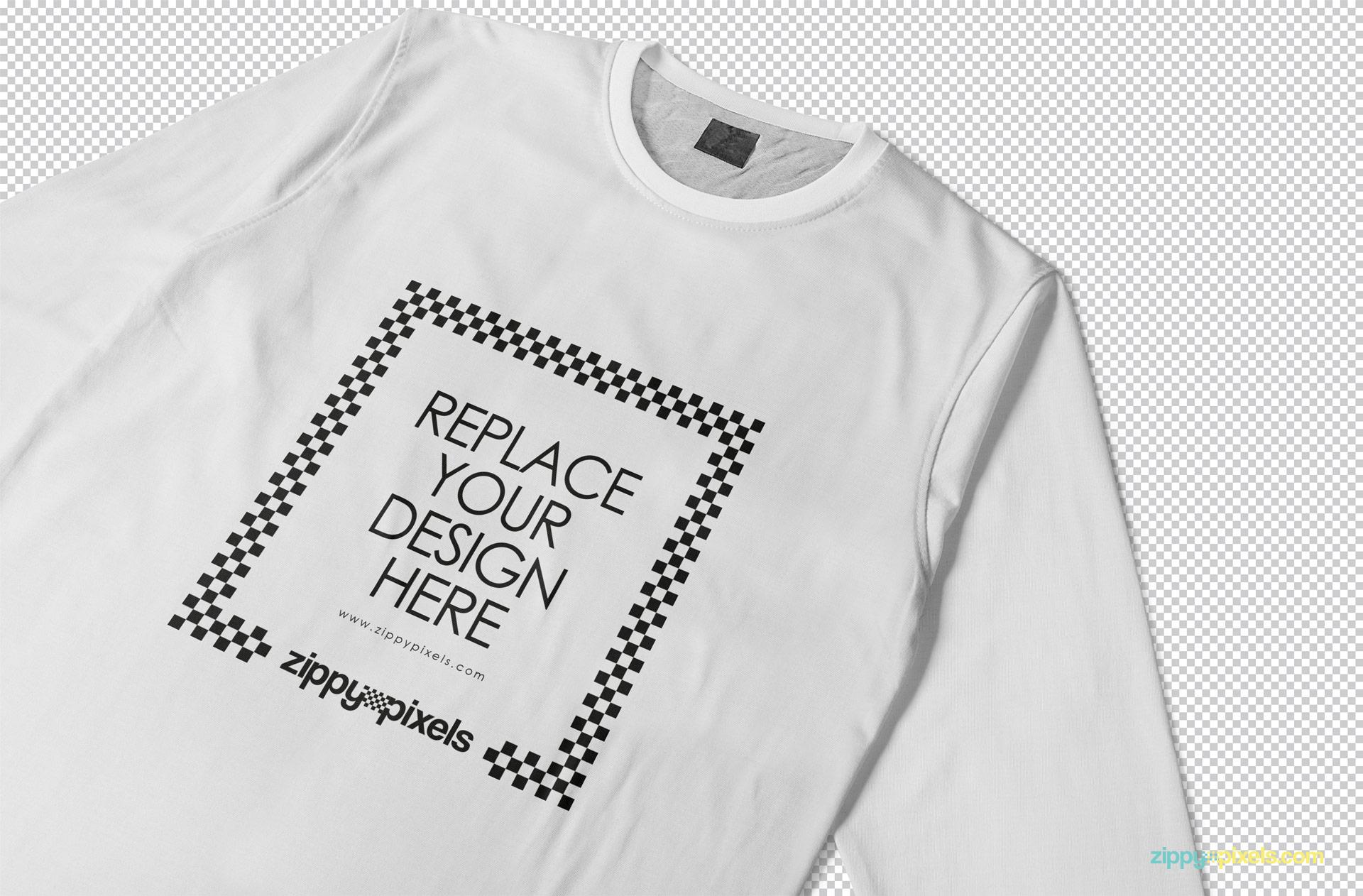 kaos mockup depan belakang psd. Free Long Sleeve T Shirt Mockup Zippypixels