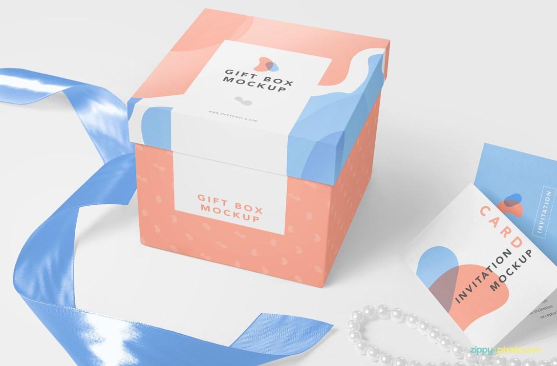 Download Free Luxury Gift Mockup | ZippyPixels
