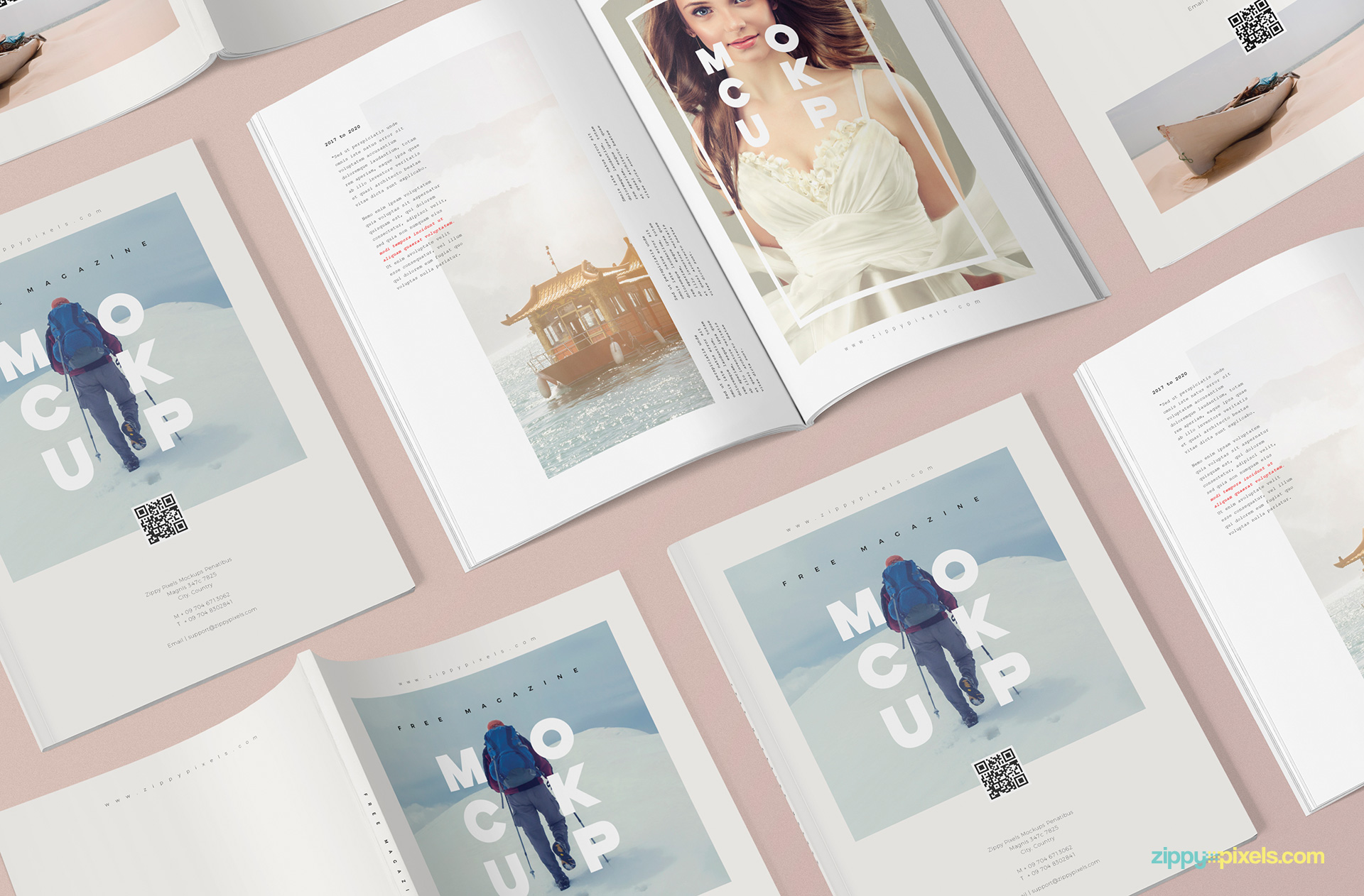 Use the smart layers to place your design and every object is movable and toggled on/off. 3 Free Magazine Mockup Templates Zippypixels