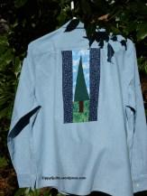 quilt block on a shirt