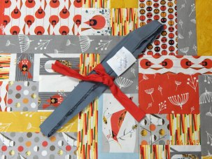 Will need to bind Charley Harper quilt when it comes back