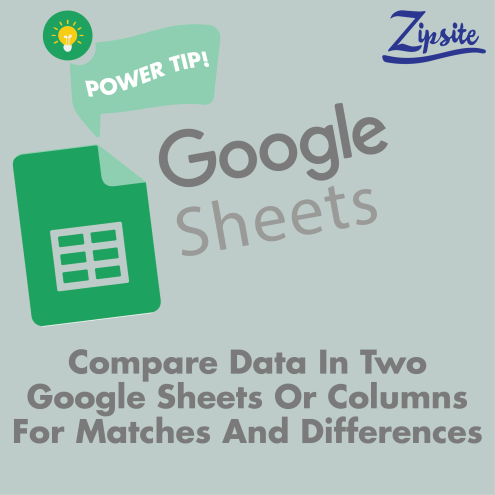 compare data in two google sheets or columns for matches and differences