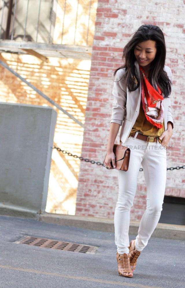 extra petite white jeans