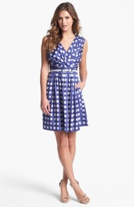 Ivy & Blue Print Wedding Guest Dress
