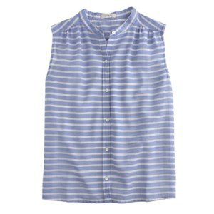 Jcrew striped sleeveless