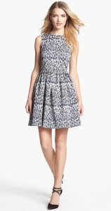 Taylor Jacquard Fit and Flare Dress NAS