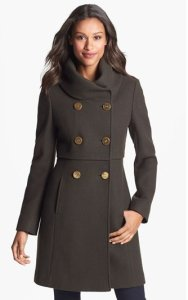 Elie Tahari Double Breasted Coat NAS