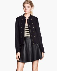 h&m wool miliatary jacket