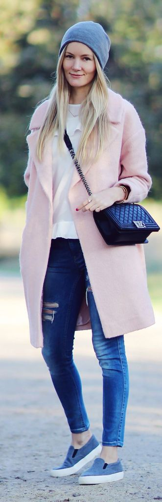 pink colorful coat