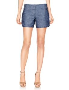 limited polished denim shorts