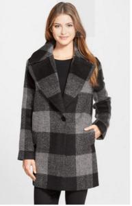 nordstrom kensie oversize plaid coat