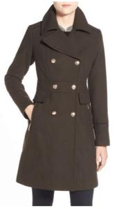 nordstrom olive officer coat vince camuto