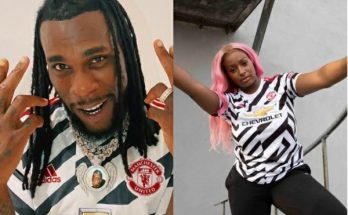 Burna Boy, DJ Cuppy Manchester United kit
