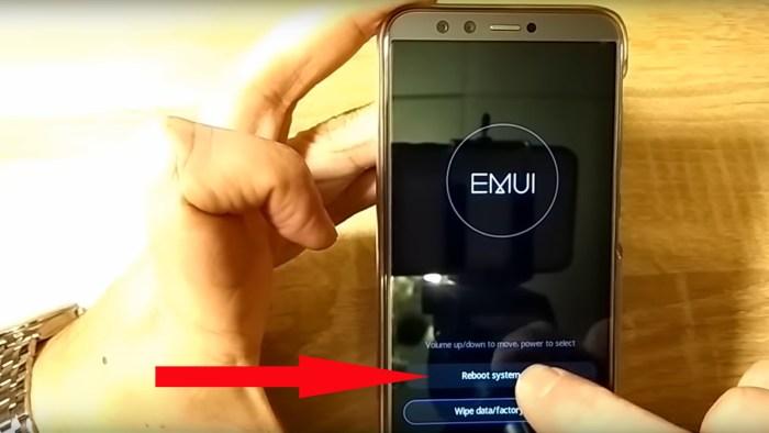 Перезагрузка системы смартфона