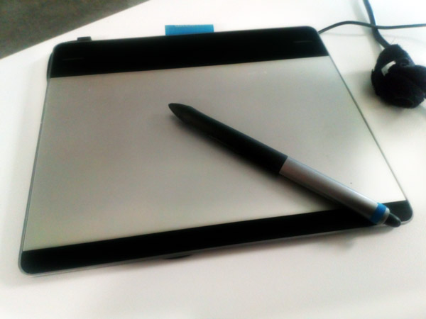 A Wacom Intuos tablet on my desk