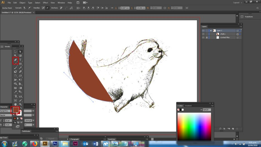 Pen tool in Adobe Illustrator