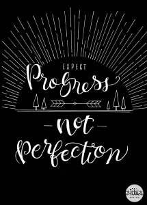 Zirkus Design   Expect Progress Not Perfection Inverse   Hand Lettering + Pen & Ink