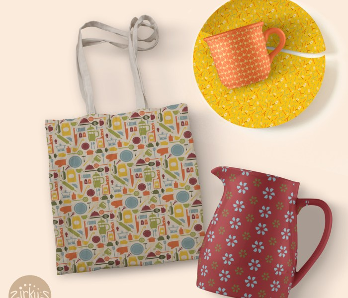 New Pattern Collection: Cocinitas – Retro Kitchen Repeats