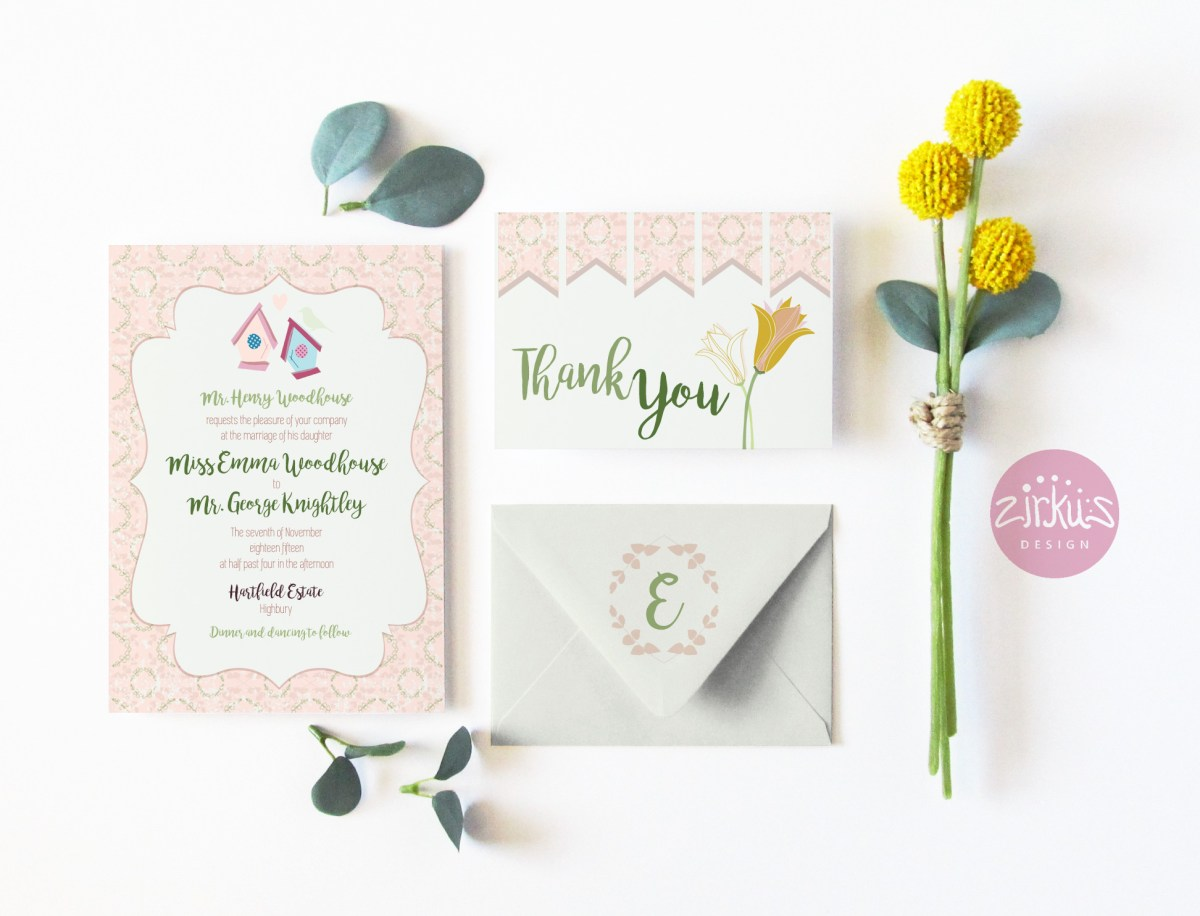 Zirkus Design | Emma Woodhouse Surface Pattern Design Collection Wedding Stationery Mockup