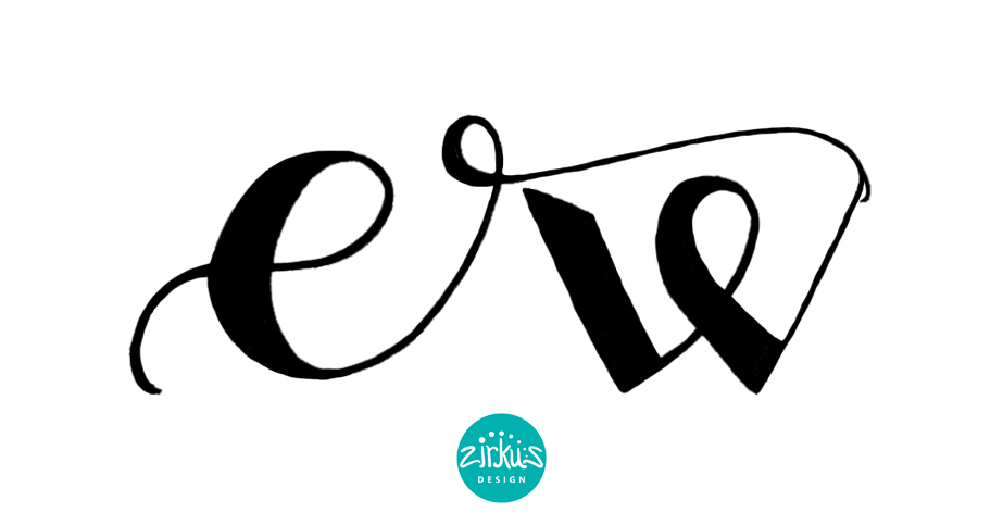 Zirkus Design | Emma Woodhouse Hand Lettered Logo Scan - Emma 3