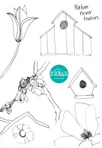 Zirkus Design | Emma Woodhouse Surface Pattern Design Collection Sketches 1