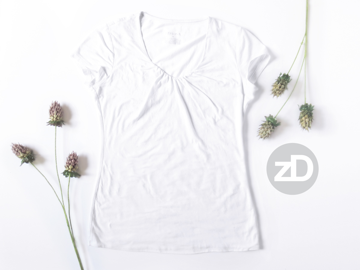 Zirkus Design | Photographing Flat Lay Product Mockups | Women's Scoop Neck T-Shirt