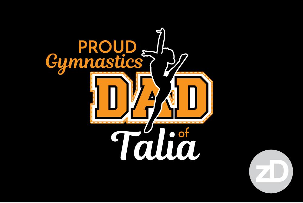 Zirkus Design | Proud Gymnastics MOM Biggest Fan T-Shirt Design DAD