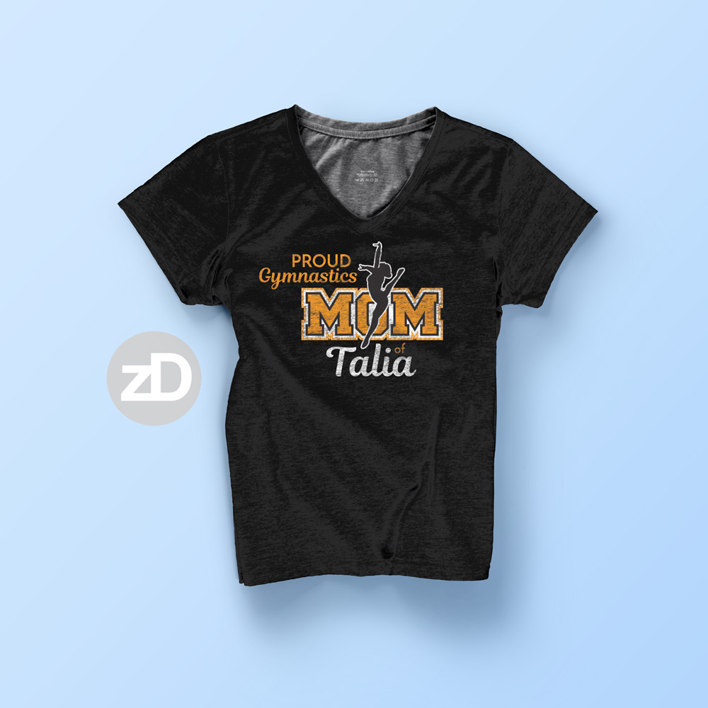Zirkus Design | Proud Gymnastics MOM Biggest Fan T-Zirkus Design | Proud Gymnastics MOM Biggest Fan T-Shirt Design FRONT