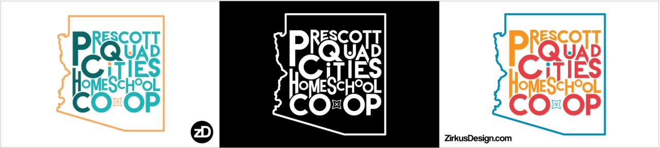 Zirkus Design | Homeschool Co-op Logo Design Fun Text Mashup