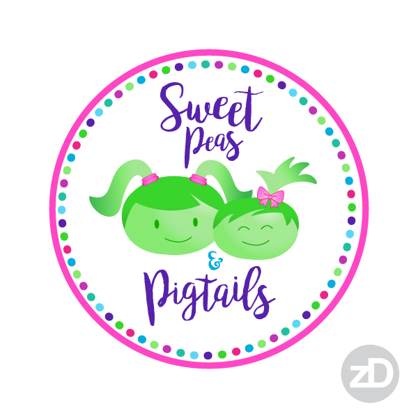Zirkus Design | Teachers Pay Teachers Store Promo Package -Sweet Peas and Pigtails Logo Choice 2